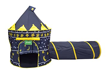 Play Kreative Moons and Stars Castle Tent with Crawling Tunnel and Carry Case. Foldable pop  sc 1 st  Amazon.com & Amazon.com: Play Kreative Moons and Stars Castle Tent with ...