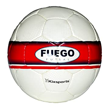 229e12f0bfd Kixsports Fuego Futsal Ball - Competition Level Sala Indoor Soccer Ball -  Hand-Sewn PU Cover - High Performance Low Bounce Bladder