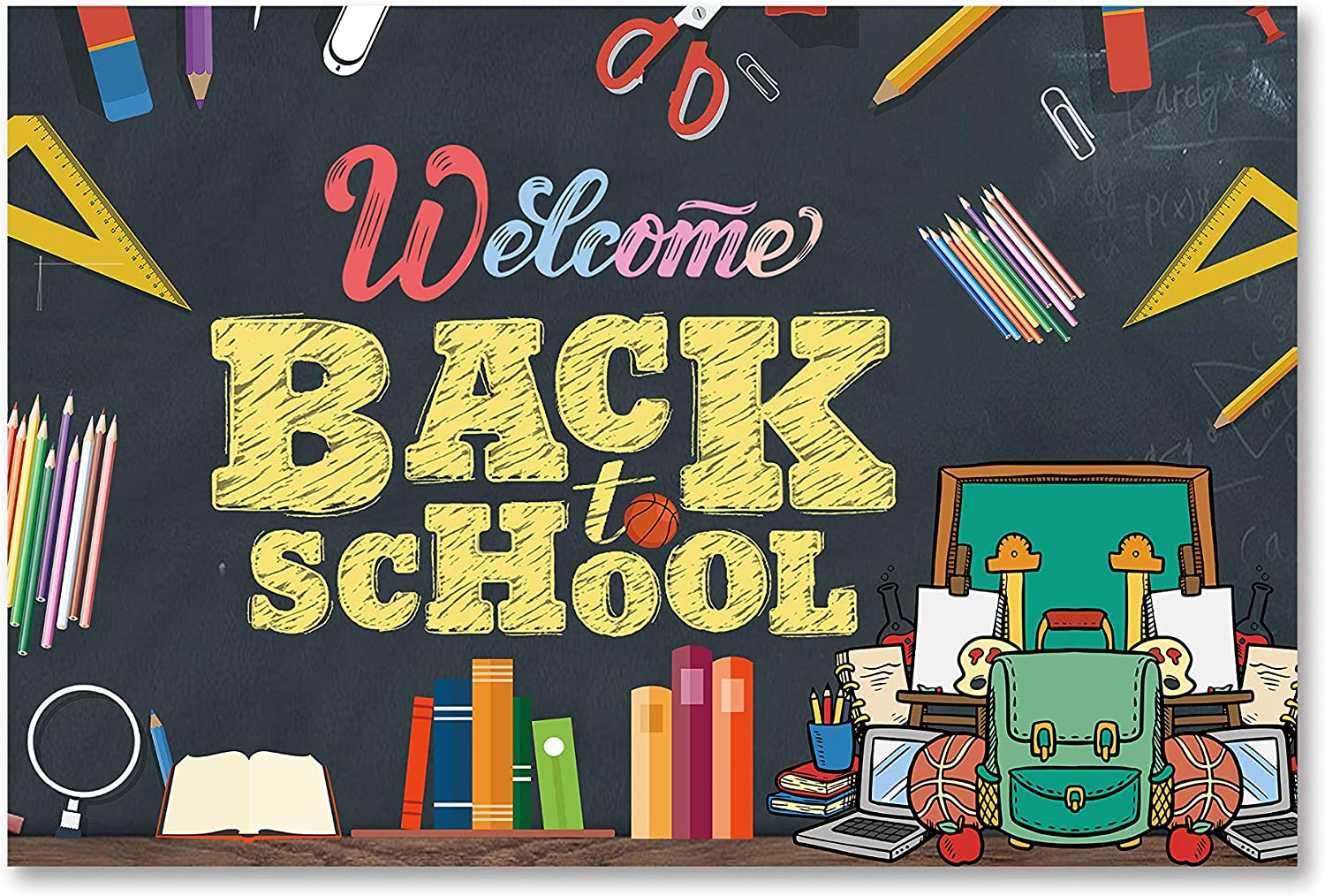 Amazon.com: Welcome Back to School Banner, 2020 Back to School Decorations,  Back to School Party Decorations,First Day of School Banner,Welcome Back to  School Logo Banner,: Health & Personal Care