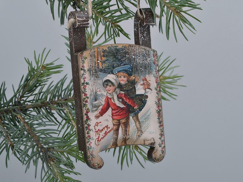 Christmas Tree Decor ''Children On The Hill''