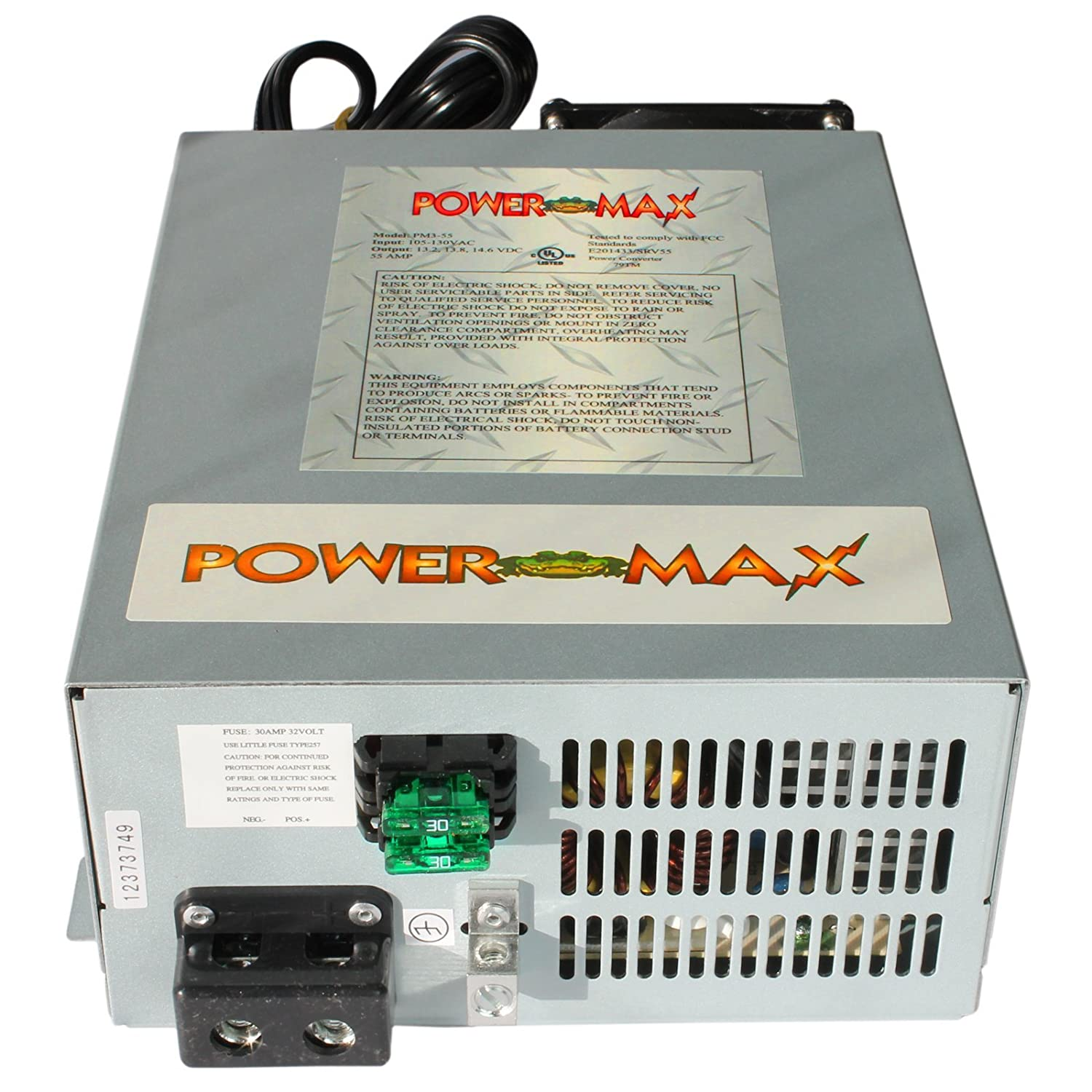 Powermax 110 Volt Ac To 12 Dc Power Supply Colt 60 Amp Fuse Box Converter Charger For Rv Pm3 45 Electronics