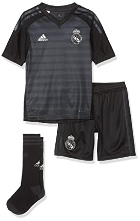 first rate 8b038 50223 adidas 2018-2019 Real Madrid Home Goalkeeper Full Kit (Kids ...