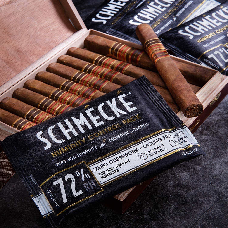 Schmécké 72% RH Cigar Two-Way Humidity Control 80 Grams x 100 Pack - Zero Guesswork - Regulate & Stabilize Humidor RH Level by Schmécké (Image #3)
