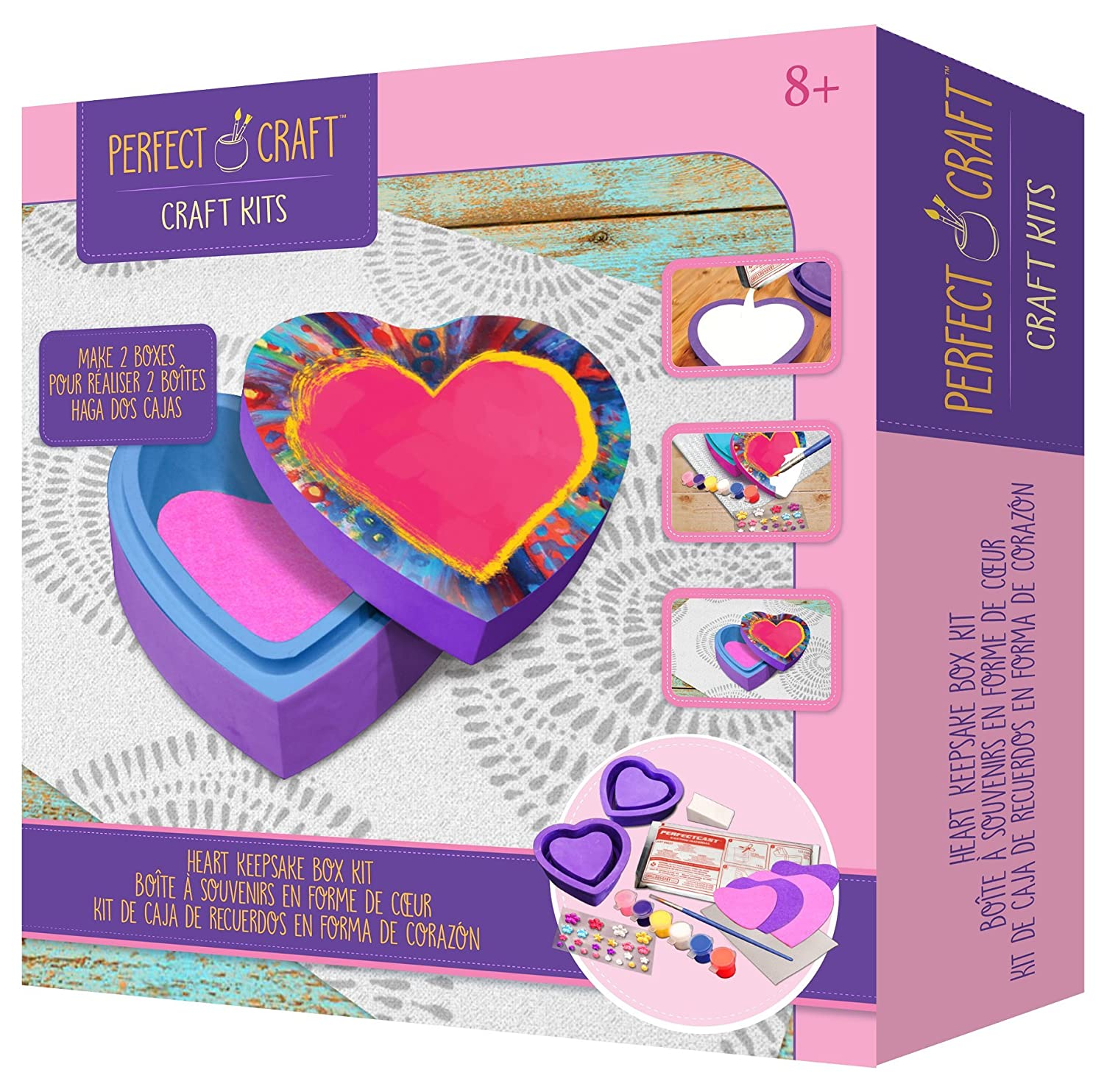 Amazon.com: Skullduggery Perfect Craft Cast & Paint Valentine Heart Box Kit with Perfect Cast Casting Material and Reusable Mold: Toys & Games