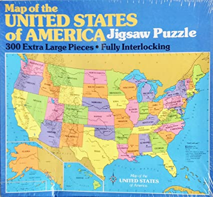 Map Of America Jigsaw.Amazon Com Map Of The United States Of Americqa Jigsaw Puzzle 300