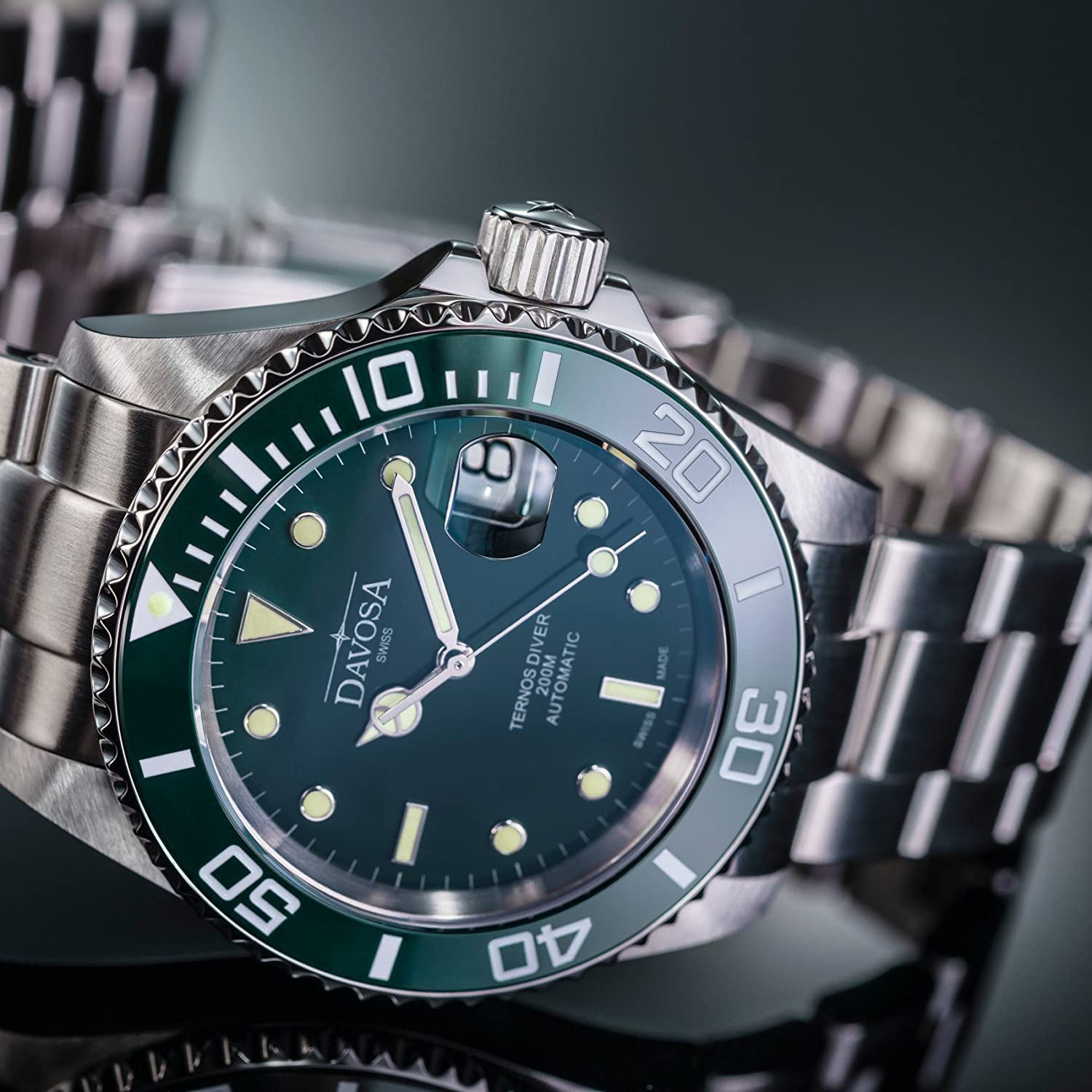6b8ff4c84 Amazon.com: Davosa Swiss Made Dive Watch for Men - Ternos Ceramic  Professional Automatic Watch with Analog Display & Unidirectional Luxury  Bezel (16155570): ...