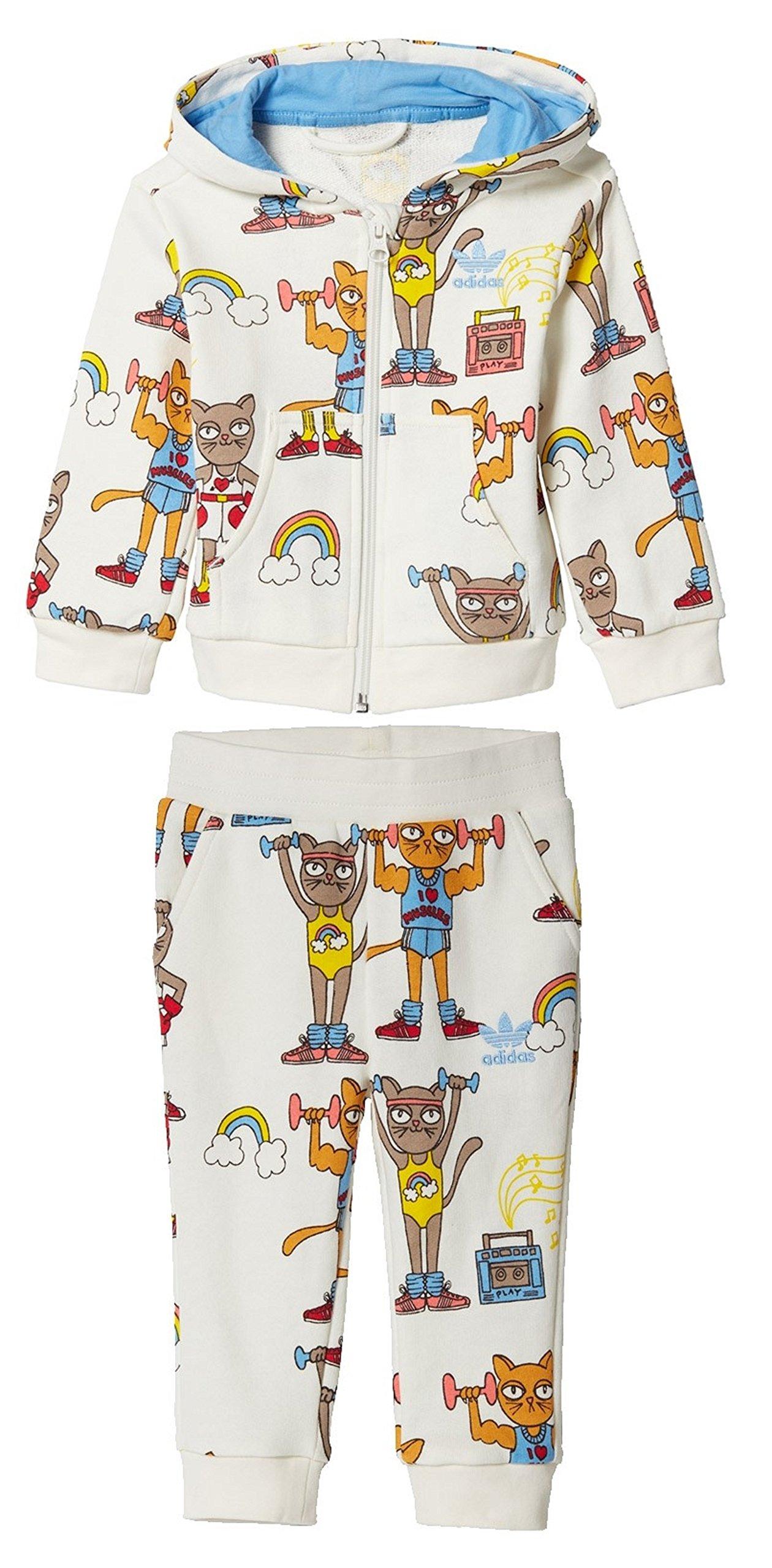 46a3b47c3 Galleon - Adidas Originals Kids' Hooded Tracksuit Mini Rodini Tricot Zip  Jacket And Pant Set (2T, Mini Rodini)