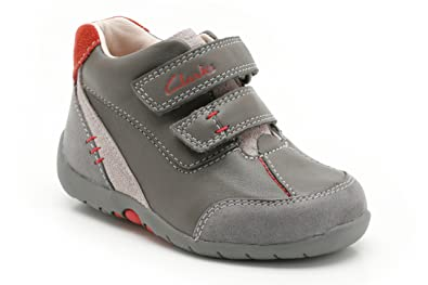 9bfecb3b8ac5 Clarks infant boys Softly Hi FST grey first walking shoes boots 6.5 ...