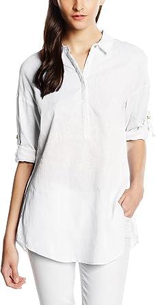 Cortefiel Camisa Oversize Lino Blusa Para Mujer Color Blanco Talla L Amazon Es Ropa Y Accesorios