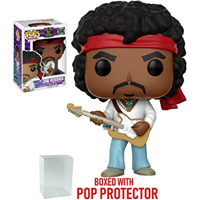 Funko Pop! Rocks: Music - Jimi Hendrix Woodstock #54 Vinyl Figure (Includes Pop Box Protector Case): Toys & Games