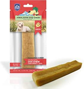 Himalayan Cheese Dog Chews | Long Lasting, Stain Free, Protein Rich, Low Odor | 100% Natural, Healthy & Safe | No Lactose, Gluten Or Grains | LARGE | for Dogs 55 Lbs & Smaller