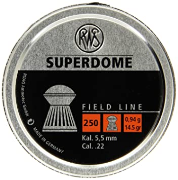 RWS Superdome cúpula .22 5.5 mm Rifle de aire, pistola Pellets 500 ...