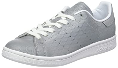 Adidas Originals Stan Smith Basket Mode Femme - Gris (Silvmt/silvmt/ftwwht)