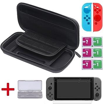 Diyife - Funda rígida de transporte para Nintendo Switch, [5 ...