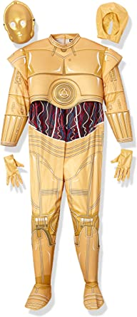 Amazon.com: Classic Star Wars C-3PO Costume for Adults: Clothing