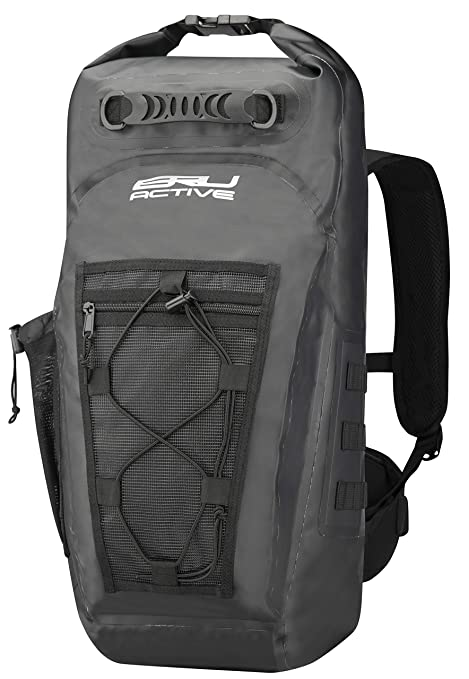 adcc5ab3f58a BRU Active Premium Dry Bag PVC Waterproof Backpack - 35L Sizes Zippers,  Drawstring, Heavy Duty Adjustable Straps Kayaking, Boating, Hiking, Water  ...