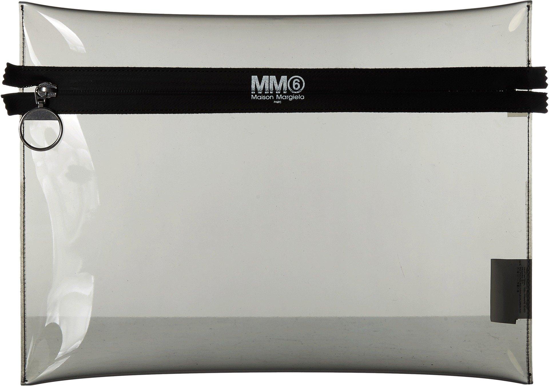MM6 Maison Margiela Women's Large Pouch Dark Grey