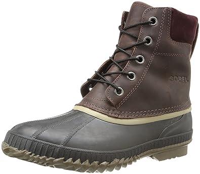 Sorel Men's Cheyanne Lace Full Grain Rain Boot,Madder Brown/Stout,7 M