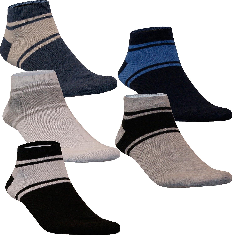 12 24 Paar Sneaker Socken Kurzsocken Füßlinge Herren Damen Baumwolle Streifen Uni Klassisch von SGS
