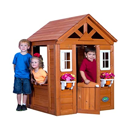 amazon com backyard discovery timberlake all cedar wood playhouse rh amazon com backyard discovery my cedar playhouse backyard discovery cedar playhouse