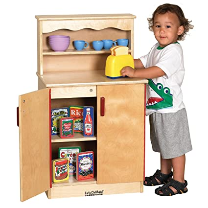 Amazon Com Offex Kids Birch Play Kitchen Cupboard Toys Games