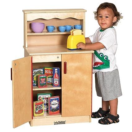 Amazon Com Offex Kids Children Birch Play Kitchen Cupboard Toys