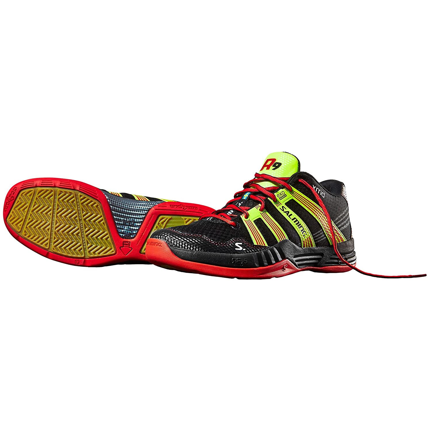 Salming Race R9 Mid 2.0 Red/Black Squash Shoes 1234090-0105