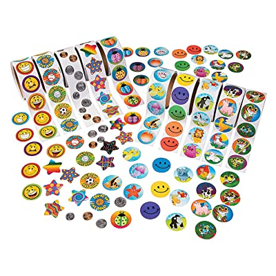 Fun Express - Super Sticker Assortment (10rl) - Stationery - Stickers - Stickers - Roll - 10 Pieces: Toys & Games