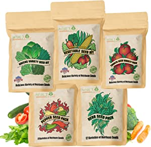 49 Varieties Mega Pack, Heirloom Survival Seeds for Planting Vegetables, Prepper Supplies, Survival Garden Seeds, Non-GMO