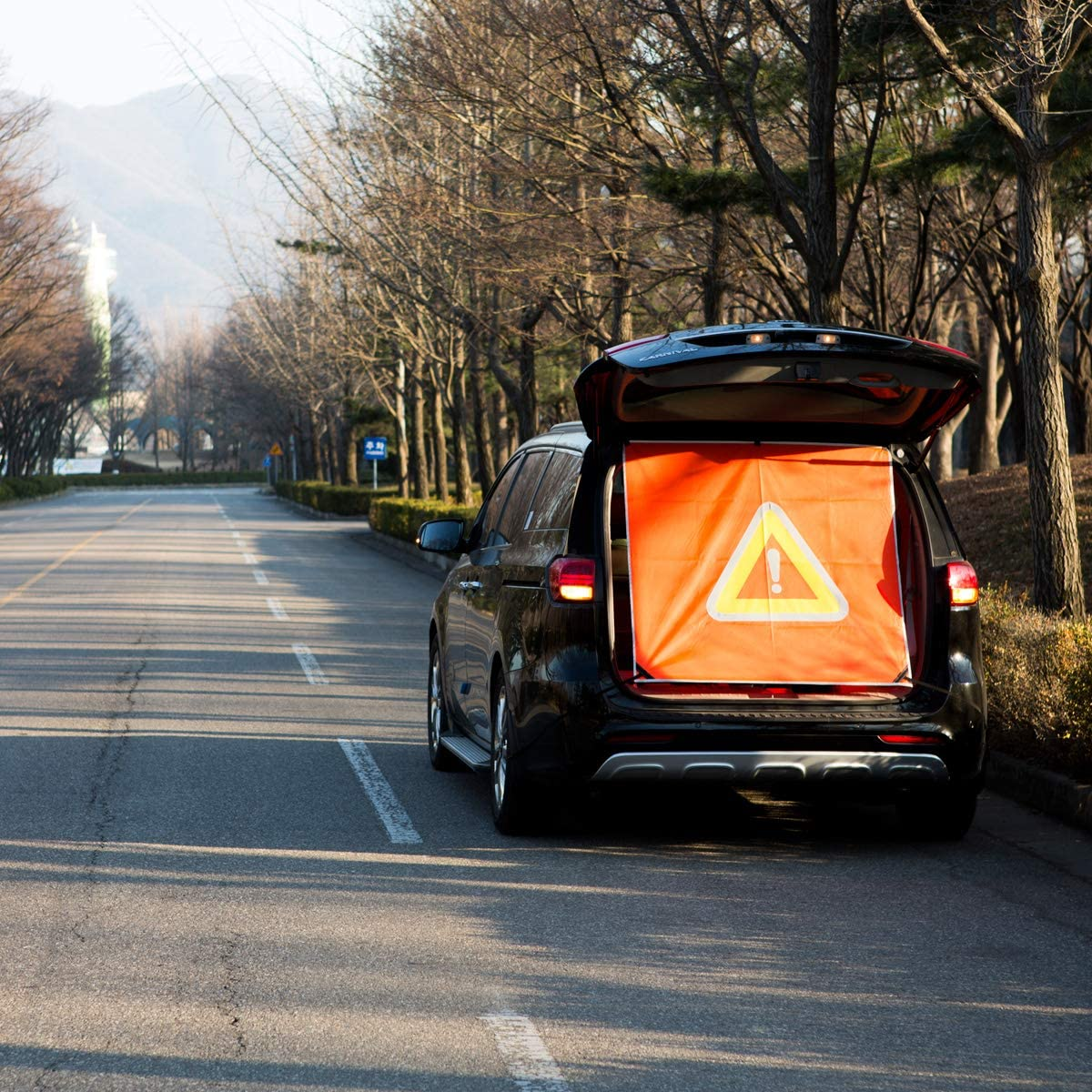 SUV Secondary Accident Prevention Safety Sign Reflector Warning Triangle Passenger Cars//SUV Rescue Goods Car Supplies Emergency Supplies ZZACPYU