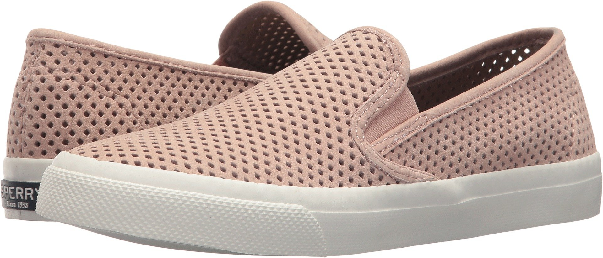 0ebfab58700a Galleon - Sperry Womens Seaside Leather Low Top Slip On Fashion Sneakers,  Blush, Size 7.0