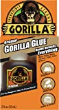 Gorilla Original Waterproof Polyurethane Glue, 2 ounce Bottle, Brown, (Pack of 1)