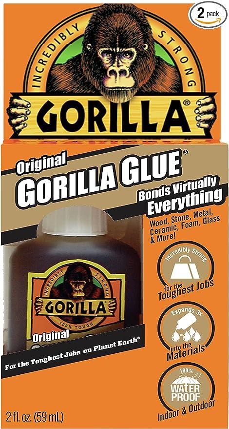 Gorilla Glue Review >> Gorilla Original Gorilla Glue Waterproof Polyurethane Glue 2 Ounce Bottle Brown