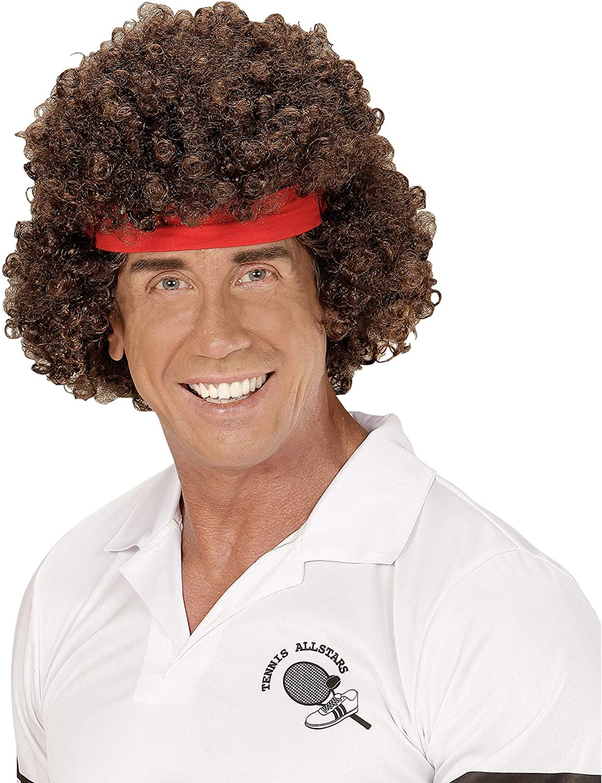 WIDMANN 06745 peluca tenistas con pelo banda, multicolor: Amazon ...
