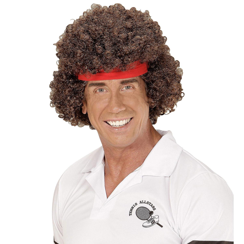 WIDMANN 06745 peluca tenistas con pelo banda, multicolor ...