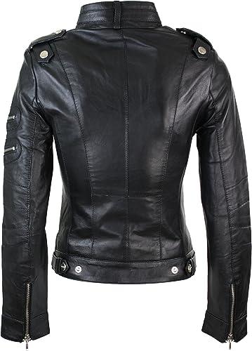 TruClothing Blouson Femme Noir Noir: