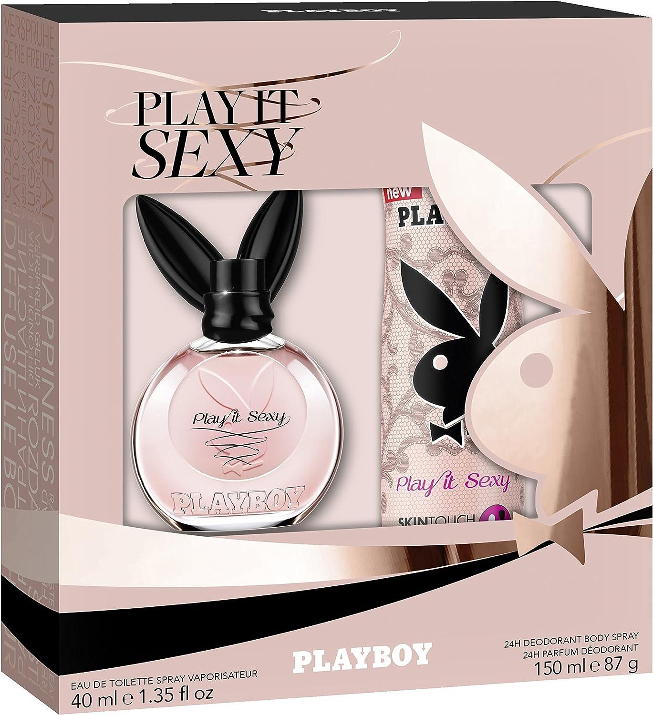 Playboy Play It sexy mujer regalo Set, EDT 40 ml + Desodorante Body Spray 150 Ml, 190 ml: Amazon.es: Belleza