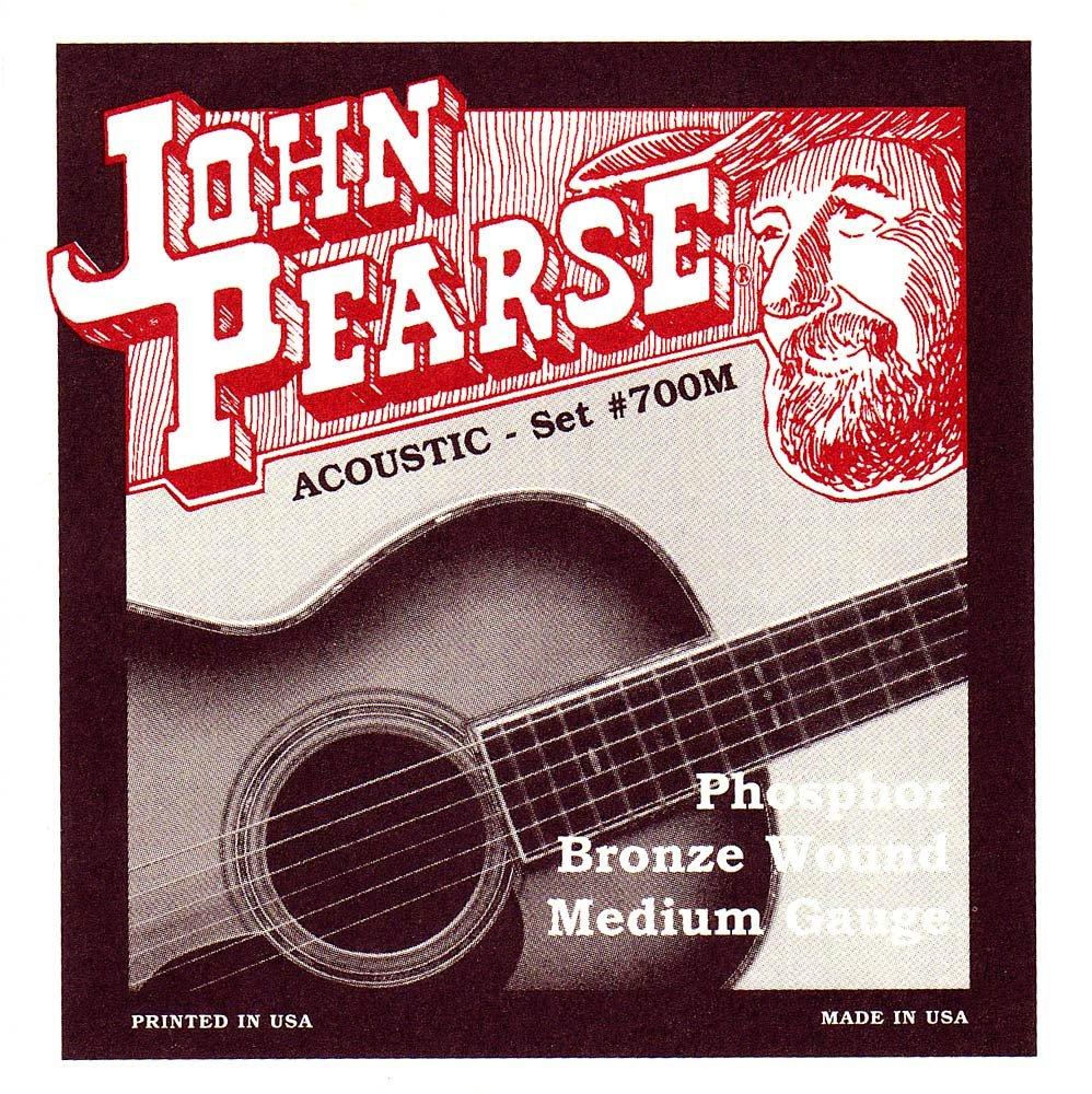 John Pearse 700M Phosphor Bronze Acoustic Guitar Strings KMC Music Inc P700M