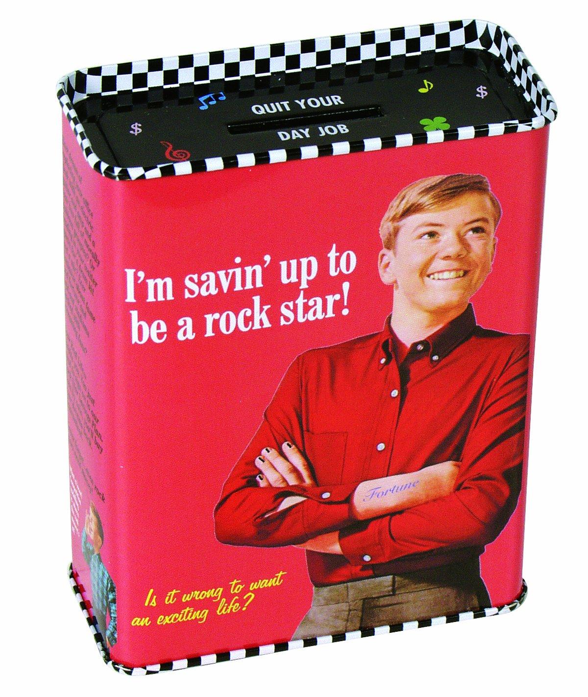 Blue Q I/'m Saving Up to be a Rock Star Tin Bank Money Box