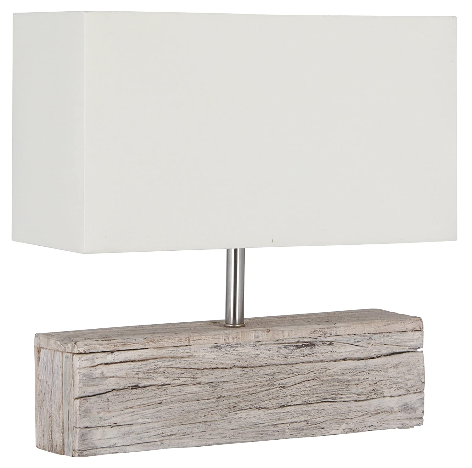 Pacific lighting rectangle wood and heavy cotton table lamp pacific lighting rectangle wood and heavy cotton table lamp complete amazon kitchen home mozeypictures Choice Image
