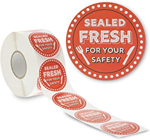 Tamper Evident Labels, Sealed Fresh for Your Safety Stickers (2 in, 1000 Pieces)