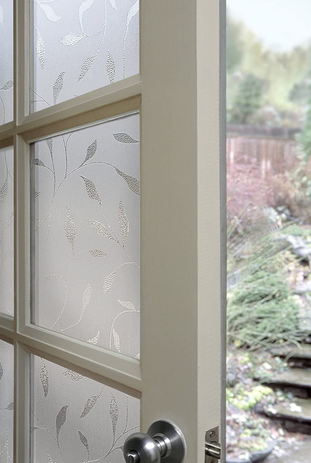 Artscape 01-0128 Etched Leaf Window Film, 24-by-36-Inch