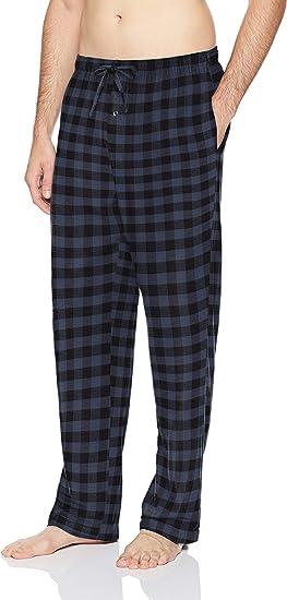 Essentials Pantal/ón Pijama de Franela Hombre