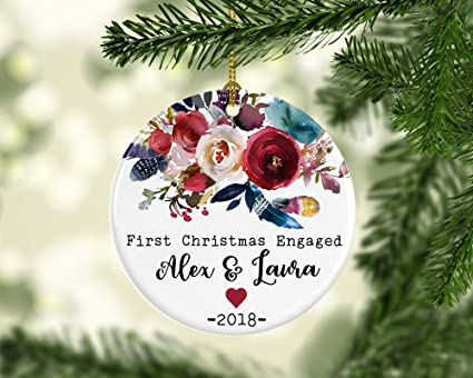 First Christmas Engaged Ornament, Engagement Gift, Wedding Shower Gift,  Engagement Couple Gift, - Amazon.com: First Christmas Engaged Ornament, Engagement Gift