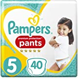 PAMPERS Premium Protection Pants tamaño 5 para 12-17 kg, 40 Pañales, 2
