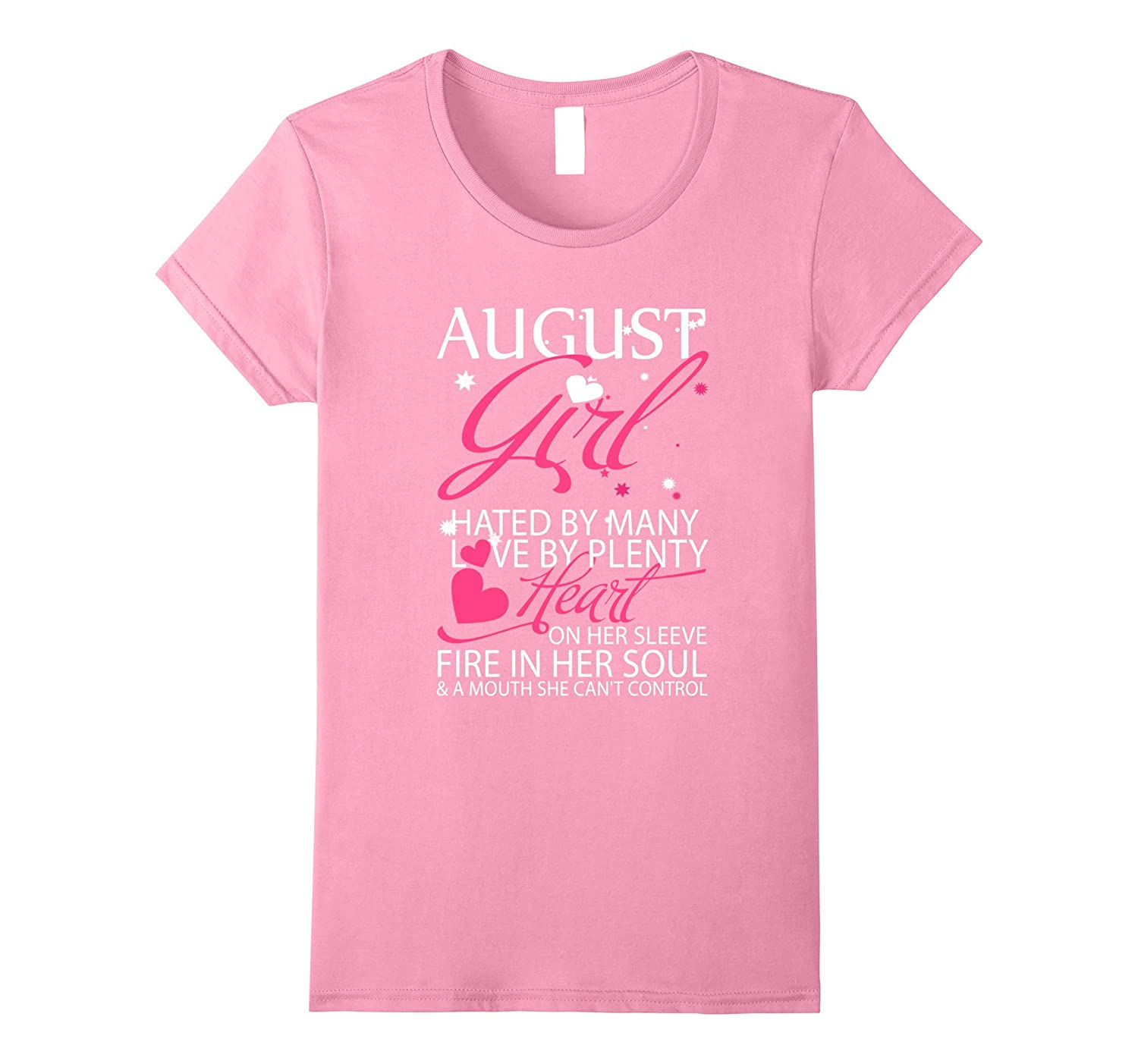 Womens August Girl Hated By Many Birthday Gift T Shirt-Art