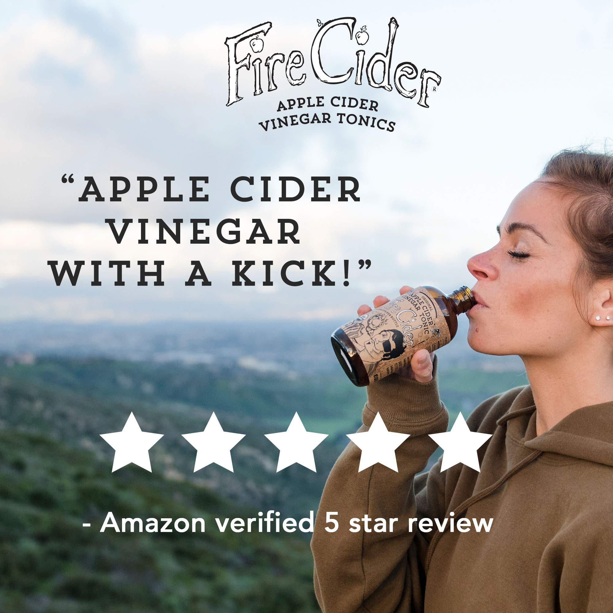 Fire Cider, Apple Cider Vinegar Tonic with Honey, Original Flavor, Pure & Raw, All Certified Organic Ingredients, Not Heat Processed, Not Pasteurized, Paleo, Keto, 128 Shots, 64 oz. by FIRE CIDER (Image #6)