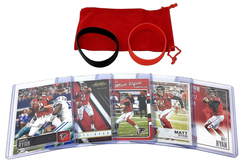 Matt Ryan Football Cards (5) Assorted Bundle - Atlanta Falcons Trading Card Gift Set Panini Bowman Topps