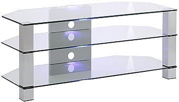 Maja Möbel Tv Rack Glas Metall Alu Klarglas 12000 X 5000 X 5000