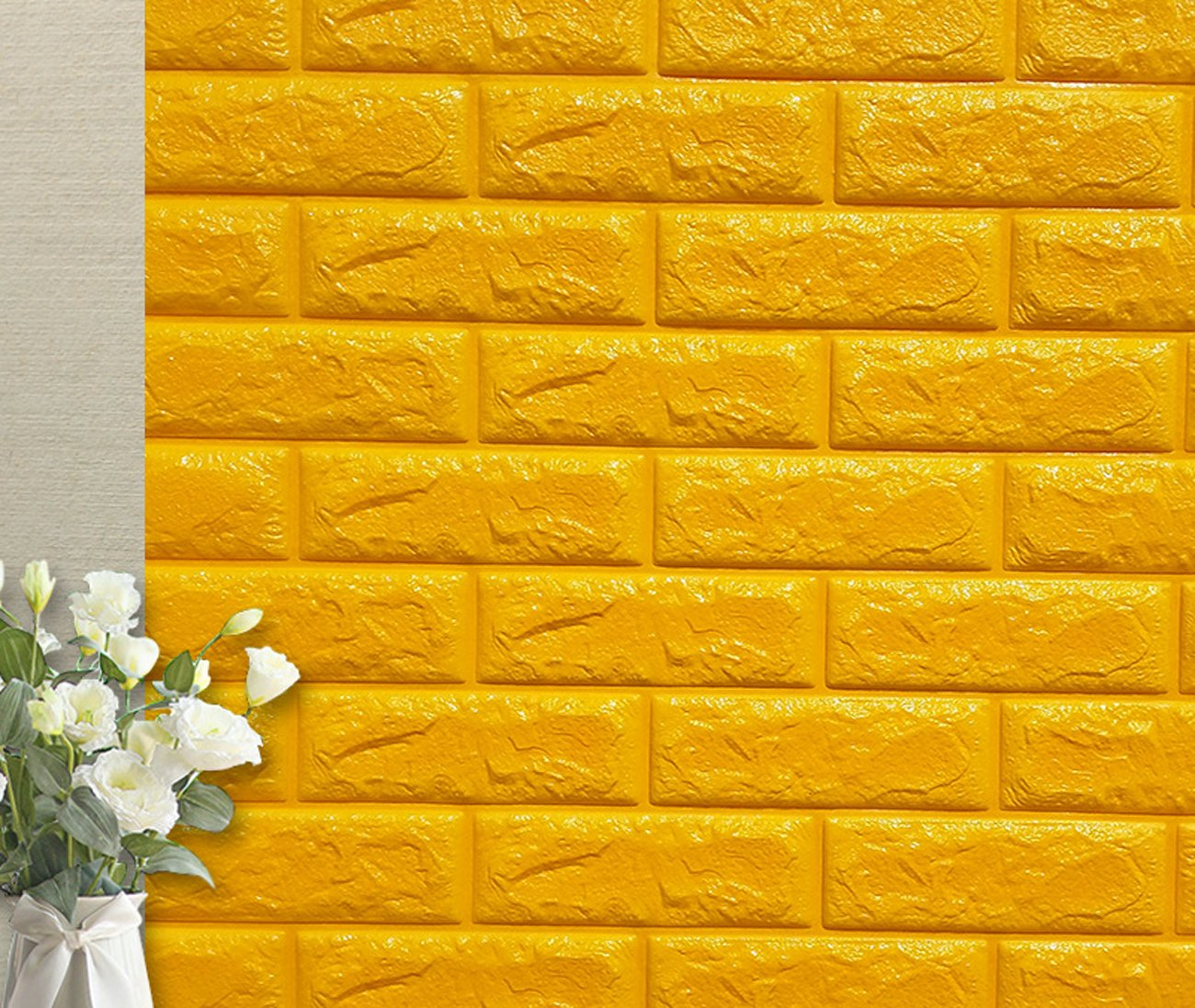 Amazon.com: YIHOPAINTI 3D Brick Wall Stickers Self-adhesive Wall ...
